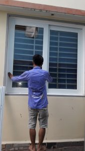 cửa sổ nhôm kính cường lực trung đức